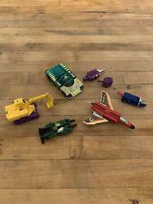Vintage Transformers Lot Fireflight, Excavator, Car - See Description
