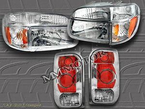 1998-2001 FORD EXPLORER CLEAR HEADLIGHTS + CORNER LIGHTS + CLEAR TAIL LIGHTS