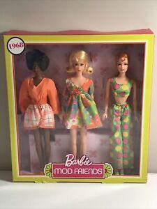 2018 Barbie Mod Friends Gift Set 1968  Reproduction  Mattel #FRP00-GOLD LABEL