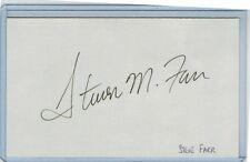 STEVE FARR INDEX CARD SIGNED 1985 WS CHAMPS KANSAS CITY ROYALS PSA/DNA CERTIFIED