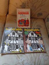 VINTAGE LOT 3 GERMAN PASSPORT BOOKS DEUTSCH AKTIV LANGENSCHEIDT SCHOOL ACTIVITY