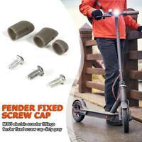 3pcs Rear Back Fender M365 Electric Scooter Screws Rubber Cap Guard Shelf Grey