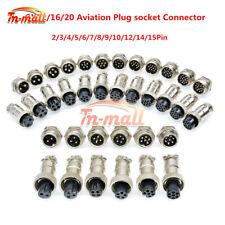 1/5/10Sets GX12/16/20 2-15Pin Male&Female Panel Aviation Plug Socket Connector