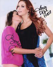 Jayden Cole & Allie Haze Combo Sexy Signed 8x10 Photo Adult Model COA Proof 763