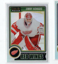 2014-15 O-Pee-Chee Platinum White Ice 57 Jimmy Howard 028/199 Detroit Red Wings