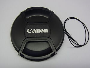 82mm Front Lens Cap Center Pinch Snap on for Canon Camera Plastic OEM