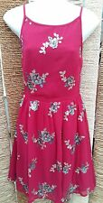 LITTLE MISTRESS BNWT Ladies Red Berry Pink Embellished Dress Size 10 RRP £50