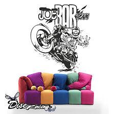 Pegatina de vinilo decorativo de pared Vinyl wall sticker Joe bar Moto 2