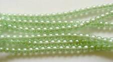 40 Czech Glass Pearl Beads - 6mm - Pearl Lights Mint