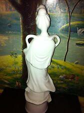 White Porcelain Kwan Yin Figurine Tall Nice