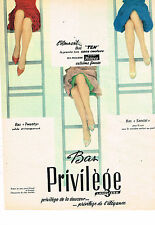 PUBLICITE ADVERTISING 034   1961   PRIVILEGE HELANCA  bas & collants
