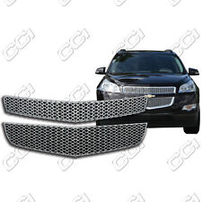 Chrome Grille Overlay FOR 2009 2010 2011 2012 Chevy Traverse (LS / LT)