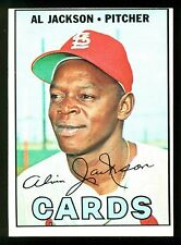 1967 TOPPS OPC O PEE CHEE BASEBALL #195 AL JACKSON NM ST. LOUIS CARDINALS CARD