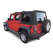 Jeep Wrangler 4 DR JK Soft Top, 2007-09, Tinted Windows, Black Sailcloth