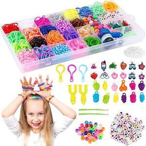 Loom Rubber Bands Charms S-Clips Hook Box Set Bracelet Making Kit DIY Craft Kids