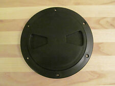 """Viking Marine Boat RV BLACK 6"""" Access Port Hatch Cover Twist Out Deck Plate USA"""