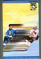 2001/02 Pittsburgh Penguins NHL Hockey Media GUIDE