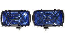 2x Fernwerfer Blau Halogenscheinwerfer CHROM H3 Zusatzscheinwerfer 123x220 SET