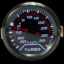Universal 52mm 2'' Digital LED Turbo Boost Meter Gauge Smoke Tint Lens Psi