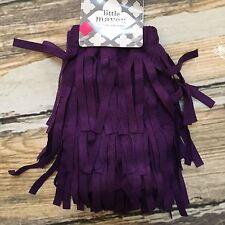 Fringe Leg Warmers Boho Indian 12-14m Girls Hippie Little Maven Purple  #358