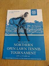 1959 NORTHERN OPEN LAWN TENNIS TOURNAMENT PROGRAMME