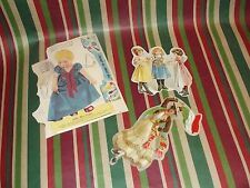 Vintage Little Miss Griffin Paper Doll and 2 other Misc Paper Cutouts