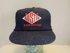 b95d049f0a29aa Vintage Austin Explosives Denim SnapBack Hat Cap Red White Blue NOS Diamond  Logo