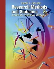 Research Methods and Statistics: A Critical Thinking Approach (Available Titles