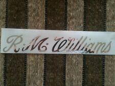 RM WILLIAMS 1500mm LONGHORN STICKER, CHROME MIRROR SILVER Decal RMW Window Decal