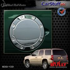 Polished Stainless Steel Gas Fuel Door Cover 07-14 Chevy Tahoe & GMC Yukon