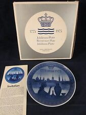 Royal Copenhagen Commemorative Bicentenary Plate 1775-1975 ~ Excellent in Box