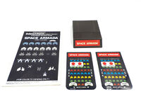 Vintage 80s Intellivision Video Game Space Armada w/ Manual & Overlays, Tested
