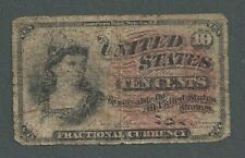 1863 United States 10c Ten Cents Fractional Currency Note - S171