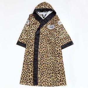 Supreme FW17 Everlast Satin Hooded Boxing Robe logo box coat cap tee Leopard