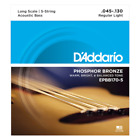 D'Addario EPBB170-5 Phosphor Bronze Acoustic Bass Strings, 5-String 45-130 for sale