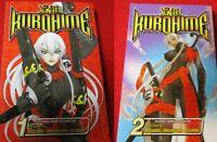 Kurohime anime based Manga vol #1 & vol #2 comic book