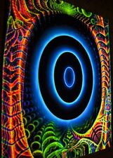 UV Backdrop PORTAL Psychedelic Blacklight wall hanging tapestry Visionary Art