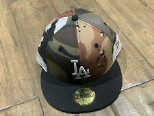New Era 59Fifty 7 3/8 Los Angeles Dodgers  Fitted Hat Mixed Camo MLB Cap Hat