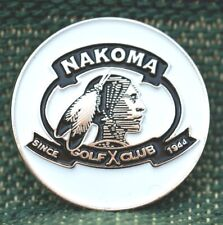 "Rare_ Limited Edition _ NAKOMA Golf Club 1"" Ni-Silver Plated Golf Ball Marker"