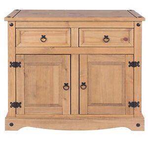 Corona 2 Door 2 Drawer Sideboard Solid Medium Wood Mexican Pine