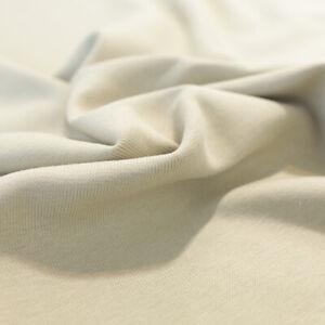 2m Bündchenstoff Schlauchware Jersey Baumwolle Bekleidungs Stoff Beige