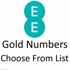 NEW EE Gold VIP PAYG SIM Card Pay As You Go Easy Memorable Mobile Number 888