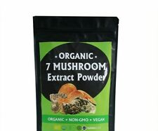 Organic 7 mushroom blend mix extract powder 30% Polysaccharide NonGMO Vegan 100g