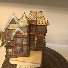 VTG VICTORIAN HOUSE SET WALL Pocket SCONCE VASE  San Fran counterpoint