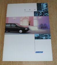 Fiat Uno Brochure 1993 Start 1.1 S FIRE 1.4 S Turbo IE