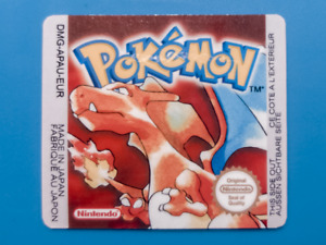 Game Boy Pokemon Red replacement label sticker