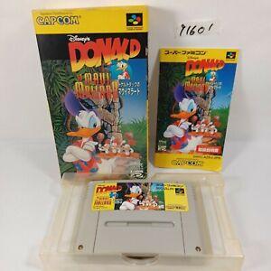 NINTENDO Super Famicom SFC Donald in Maui Mallard Disney Complete set JPN Import