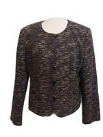 Sag Harbor Womens Suit Jacket Blazer Size 16 Black Button Up L.S.