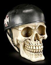 Totenkopf Biker - Skull Racer - Motorrad Club Deko Figur Schädel Totenschädel