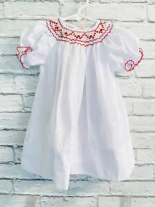 Sucre Baby Girl Smocked Bishop Dress 9 months